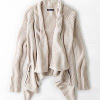 AEO Zip Pocket Wrap Cardigan