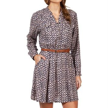 Blue Floral Belted Tunic