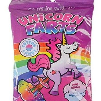 Novelty Treasures Delicious Gag Gift Mythical Sweets Unicorn FARTS Cotton Candy (One Package) FUN Party Gift