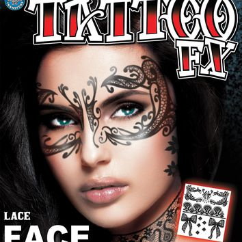 Lace Face Tattoo Costume Accessories