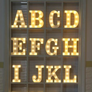 Alphabet Letter Lights LED Light Up White Plastic Letters