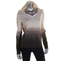 American Living Womens Dip-Dye Long Sleeves Hoodie