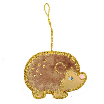 Hedgehog Ornament Handmade in India