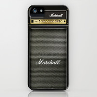 guitar electric amp amplifier iPhone 4 4s 5 5s 5c, ipod, ipad, tshirt, mugs and pillow case iPhone & iPod Case by Three Second