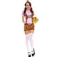 Music Legs Womens Lederhosen Beer Babe Halloween Party Oktoberfest Costume