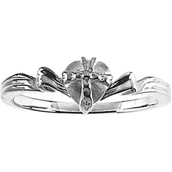 Sterling Silver Heart Chastity Ring
