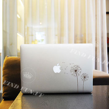 Dandelion Decal Macbook Air Sticker Macbook Air Decal Macbook Pro Decal 53753