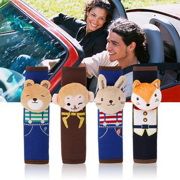 Newest Cute Cartoon Style Children Safety Belt Plush Seat Harness Shoulder Pad Cushion Covers