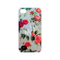 Vintage Floral iPhone 4 Case and iPhone 4s Case, Floral iPhone 4 Cover and iPhone 4s Cover