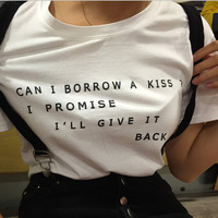 Can I borrow a Kiss T-shirt, Woman Tops