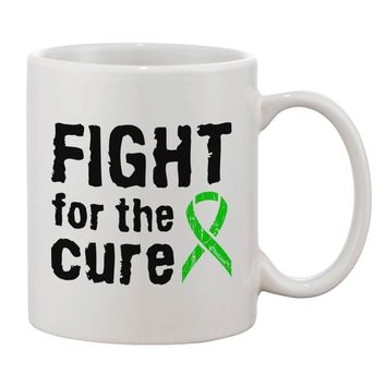 Fight for the Cure - Lime Green Ribbon Lyme Disease Printed 11oz Coffee Mug