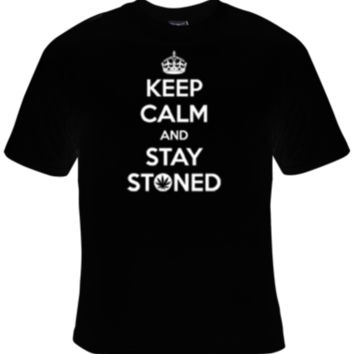 Keep Calm And Stay Stoned T-Shirt Men's