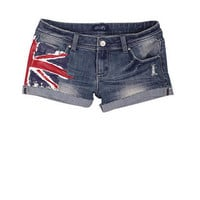 British Flag Denim Short