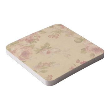 Rose Art Print Square Paper Coaster