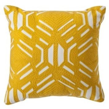 Room Essentials® Patterned Decorative Pillow - Yellow