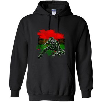 Black Panther Marvel Tribute Represent Africa's Flag Hooded Sweatshirt