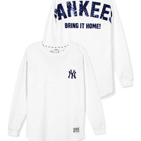 New York Yankees Bling Varsity Crew - PINK - Victoria's Secret