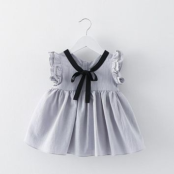 newborn solid summer newborn bow baby dress Party Birthday girls kids Children dresses candy color princess dress bebe