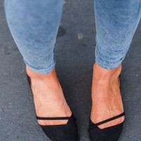 D-Orsey Ballet Flats in Black