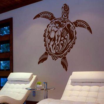 ik477 Wall Decal Sticker turtle ocean sea openwork Animals Marine bathroom
