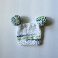 The Andy Roo - Baby Knit Hat, Hand Knit Baby Hat, Knit Hat for Babies, Photo Prop
