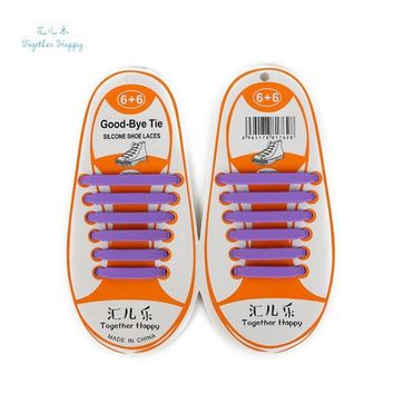 Summer Fashion No Tie Rubber Elastic Shoelace Sneaker Children Adult Shoe Laces Runnin