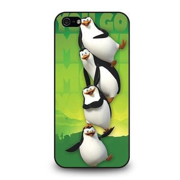 the penguins of madagaskar all character iphone 5 5s se case cover  number 1