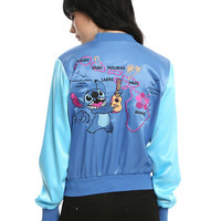 Disney Lilo & Stitch Hawaiian Girls Satin Souvenir Jacket