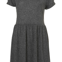 Speckle Roll Sleeve Mini Dress - Collegiate Style - We Love - Topshop
