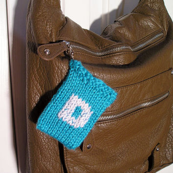 "Gift Card Holder - Monogrammed ""D"" with clip"