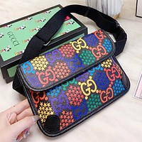 GUCCI New fashion multicolor more letter print shoulder bag crossbody bag women