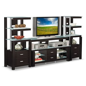 Crescent Entertainment Wall Units Audio Pier - Value City Furniture