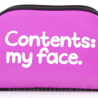 CONTENTS: MY FACE COSMETIC BAG
