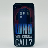 Caselo Generic TPU Rubber Skin Case for iPhone 5 5S - Retail Packaging Who You Gonna Call