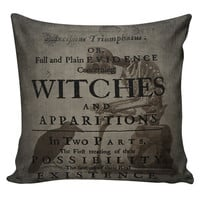 Cushion Pillow Halloween Raven Witch Cotton and Burlap RQ-15 RavenQuoth All Hallow's Eve Home Decor
