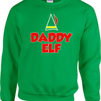 Funny Christmas Sweater Daddy Elf Sweater Daddy Sweater Ugly Xmas Sweater Christmas Presents Holiday Season Unisex Hoodie - SA463