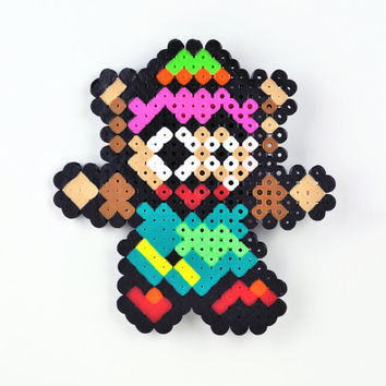 Perler Bead Magnet Super Nintendo Legend of Zelda Link to the Past Link Falling - On SALE Until APRIL 30 - 30% price reduction