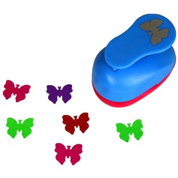 free shipping 1 inch butterfly design eva foam punch paper punches scrapbooking cutter hole punch craft punching for DIY artwork