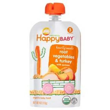 Happy Baby Stage 3 Hearty Meals Gobble Gobble Organic Baby Food - 4 oz