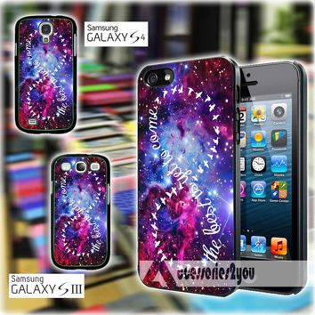 Infinity Quote Purple Galaxy Nebula Design iPhone 4, iPhone 4s, iPhone 5, iPhone 5s, iPhone 5c, Samsung Galaxy S3, Sasmsung Galaxy S4 Case