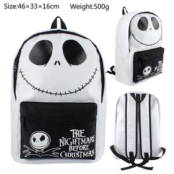 The Nightmare Before Christmas Backpack Canvas Bag School Bags for Boys Girls Casual Schoolbag Knapsack Laptop Bags