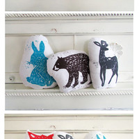 20% OFF. You pick any 3 Hand Block Printed Animal Pillows. Choose ANY Animals and Colors.