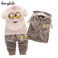 3PCS Spring Autumn Kids Clothing Sets Toddler Unisex Coat jacket+T Shirt+Pants Children Sport Suits Baby Girls Boys Clothes set