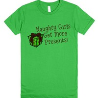 Naughty Girls Get More Presents-Female Grass T-Shirt