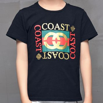 GUCCI paternity loaded a family of four four short-sleeved Black