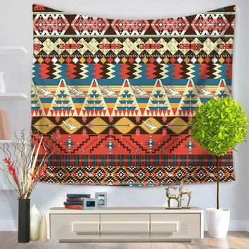 Wall Hanging Striped Tapestry Indian Mandala Throw Blanket Bedspread Living Room Boho Wall Decoration Beach Towel 150x130cm
