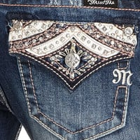 Miss Me Jeans, Bootcut Embellished Flap Pocket - Womens Jeans - Macy's
