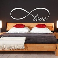 Wall Decal Vinyl Sticker Decals Art Home Decor Murals Quote Decal Infinity Symbol Wall Decal Infinity Loop Love Bedroom Home Decor Decals Vinyl Lettering V951