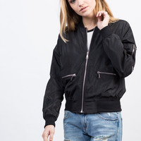 Zipped In Bomber Jacket