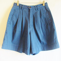 Vintage 1990's High Waisted Pleated Shorts Sz 6